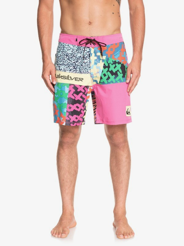 "0 Highline More Paint 18"" - Boardshort pour Homme Rose EQYBS04074 Quiksilver"