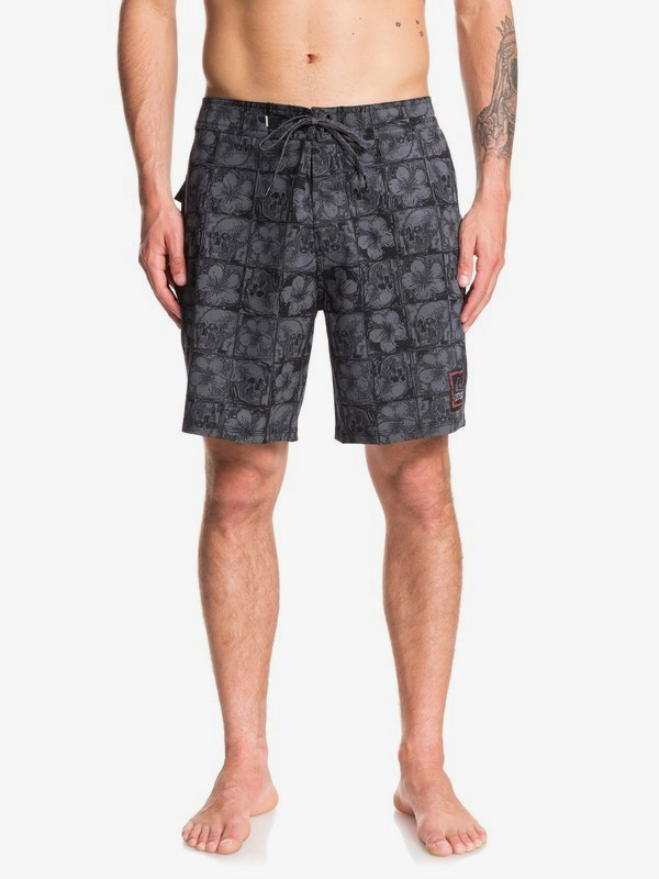 "0 Highline Dead Floral 18"" - Board Shorts for Men Black EQYBS04206 Quiksilver"