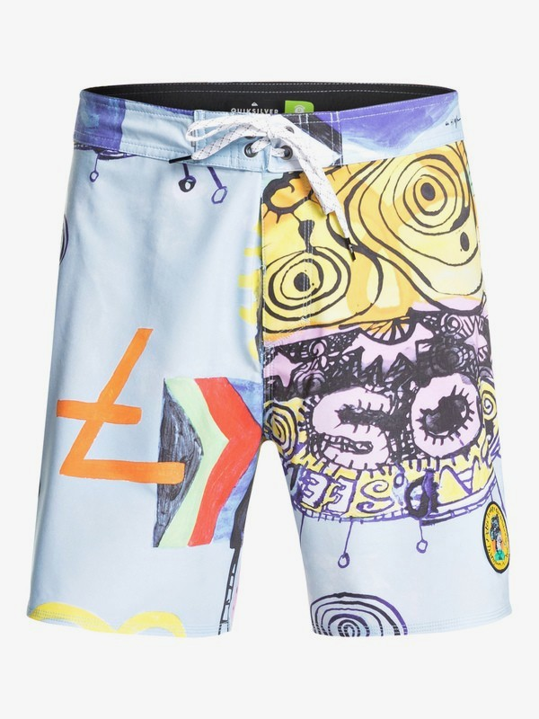 """Highline Art House 18"""" - Board Shorts for Men  EQYBS04218"""