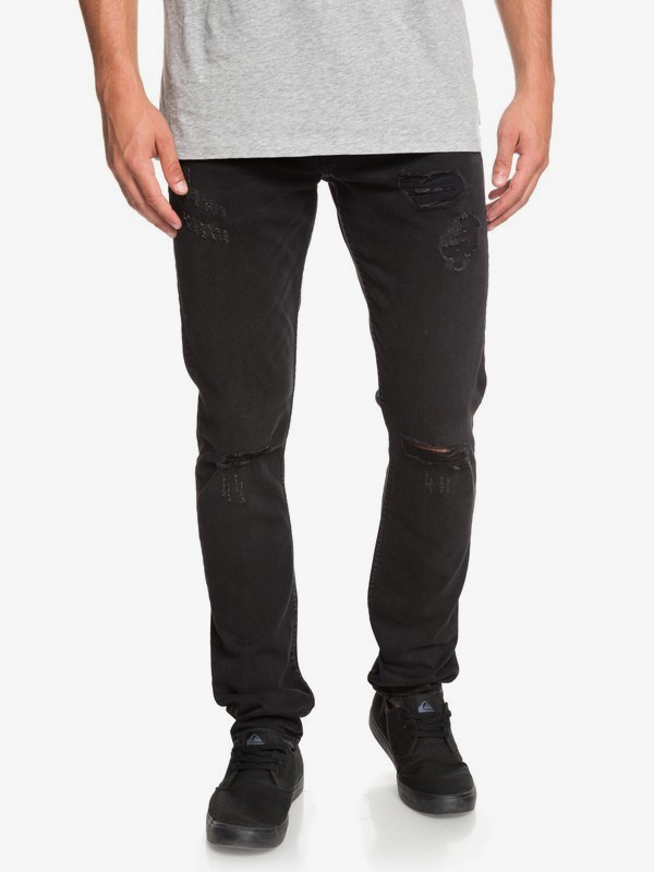 0 Distorsion Stranger Black - Slim Fit Jeans for Men Black EQYDP03384 Quiksilver