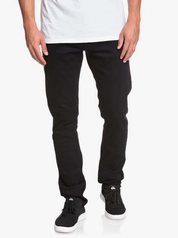 Distorsion Black Black - Slim Fit Jeans for Men  EQYDP03386