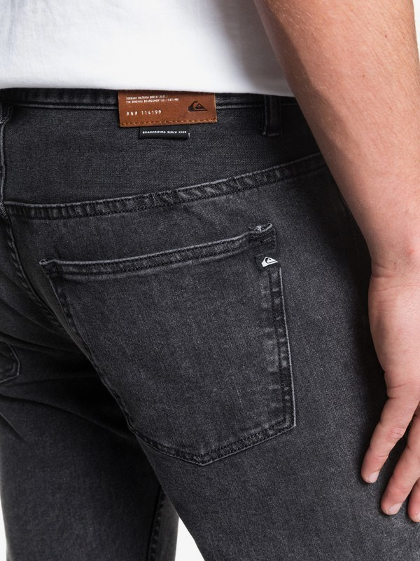 Distorsion Snow Black - Slim Fit Jeans for Men EQYDP03412