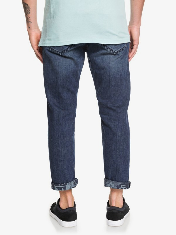 High Water Aged Blue - High Water Cropped Jeans for Men  EQYDP03413