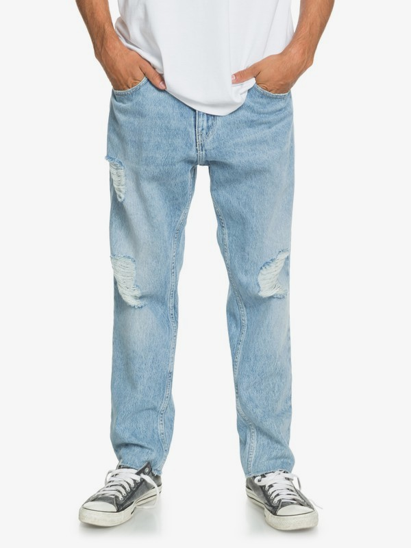 High Water Blue Rip - High Water Fit Jeans for Men  EQYDP03423