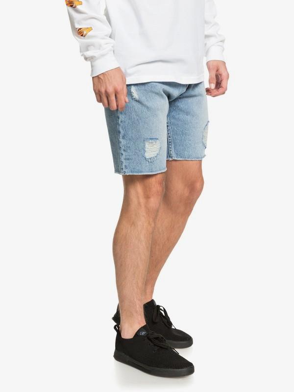 High Water Blue Rip - Denim Shorts  EQYDS03090