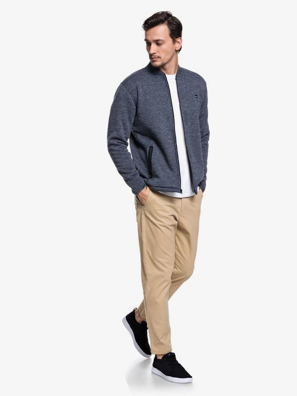 Kurow Sherpa - Bonded Zip-Up Bomber Sweatshirt for Men  EQYFT03832
