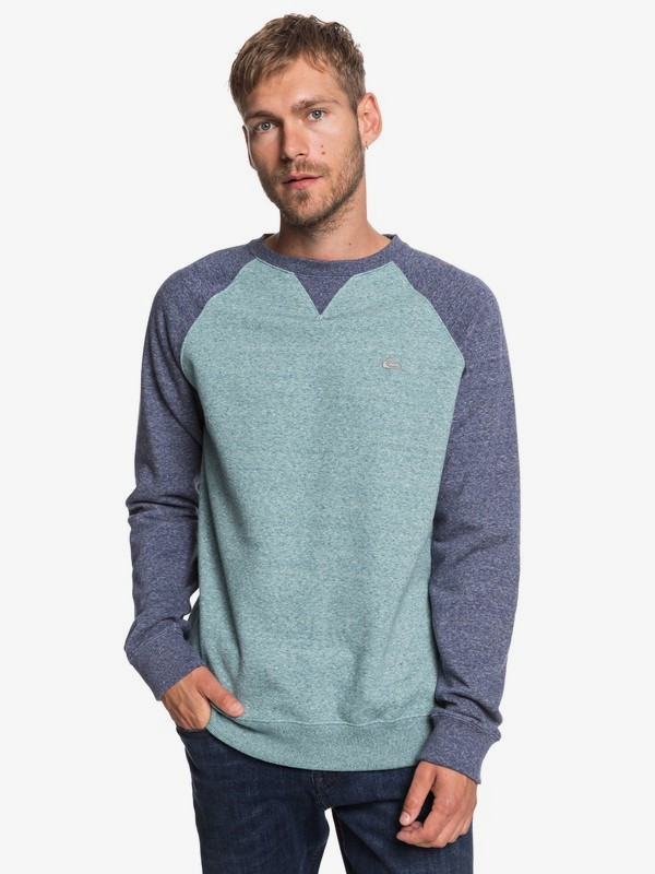 0 Everyday - Sweat pour Homme Bleu EQYFT03847 Quiksilver