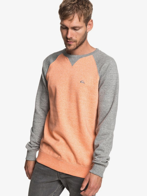 0 Everyday - Sweat pour Homme Orange EQYFT03847 Quiksilver