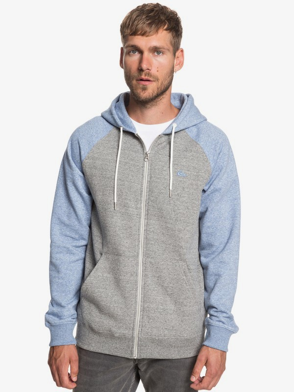 0 Everyday - Zip-Up Hoodie for Men Grey EQYFT03849 Quiksilver