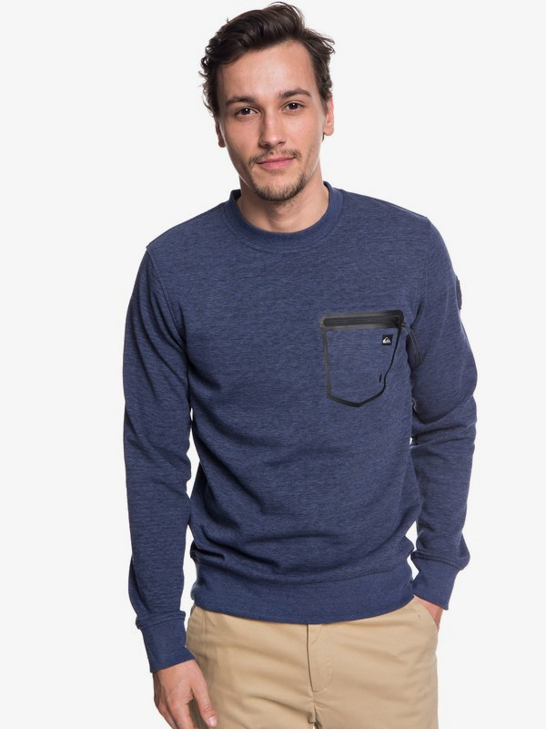 0 Yattemi - Technical Sweatshirt for Men Blue EQYFT03852 Quiksilver