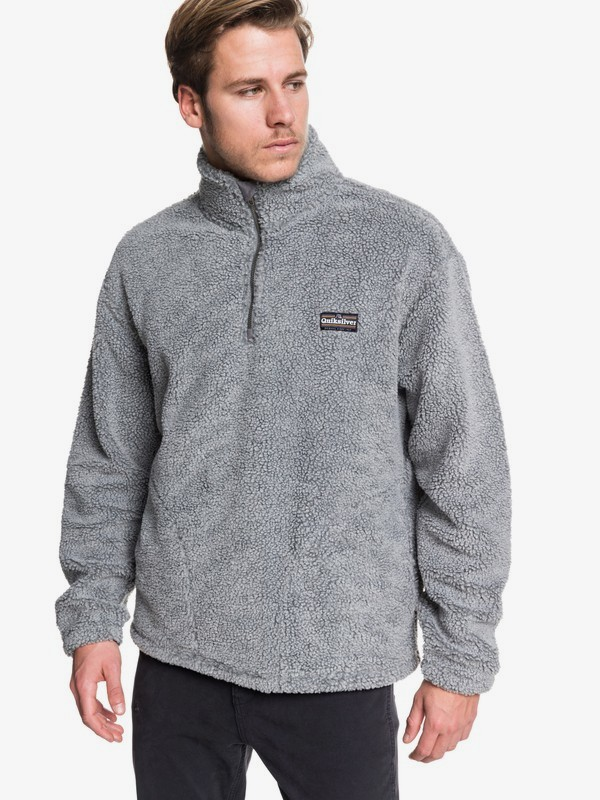 Bogong Gum - Half-Zip Popcorn Sherpa Fleece for Men  EQYFT04000