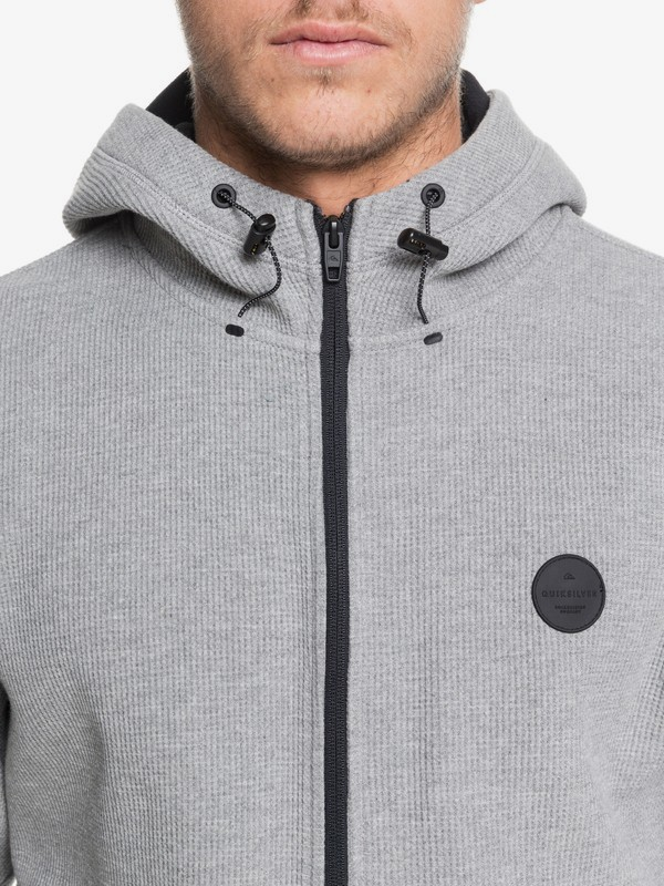 Marble Strelley - Bonded Waffle Zip-Up Hoodie for Men  EQYFT04019