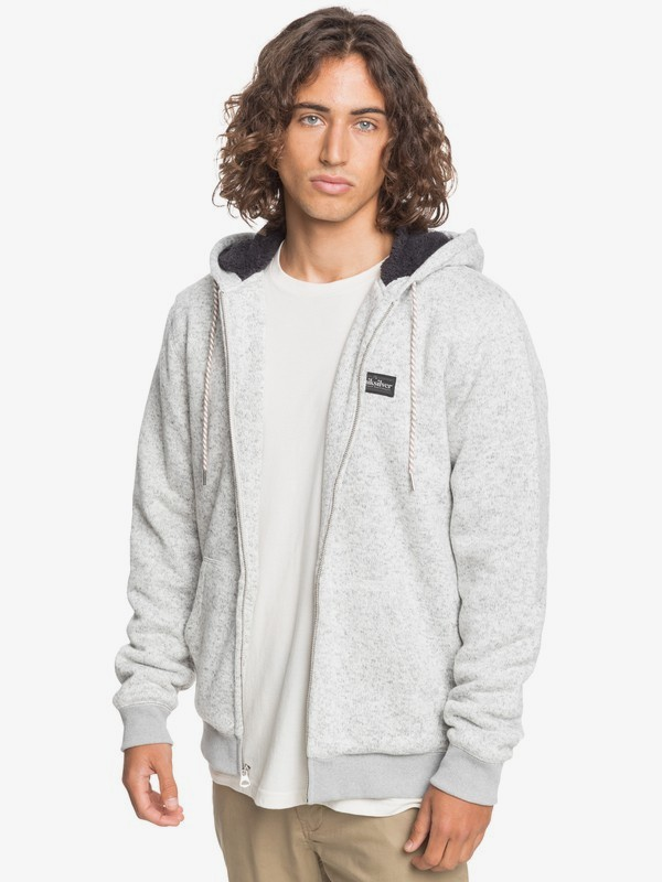 Keller - Hooded Zip-Up Sherpa Fleece for Men  EQYFT04183
