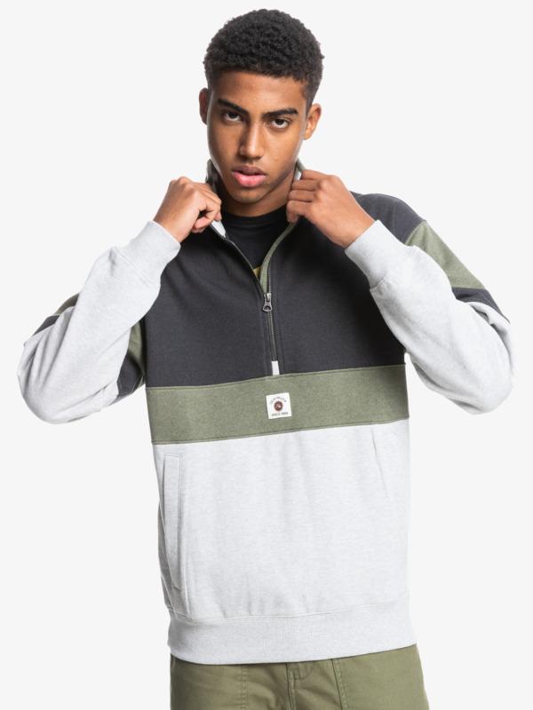 Colorblock - Recycled Half Zip Sweatshirt for Men  EQYFT04403