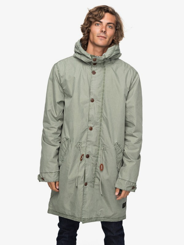 Benner - Hooded Military Parka for Men  EQYJK03390