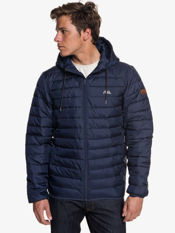 0 Scaly - Water-Resistant Puffer Jacket for Men Blue EQYJK03418 Quiksilver