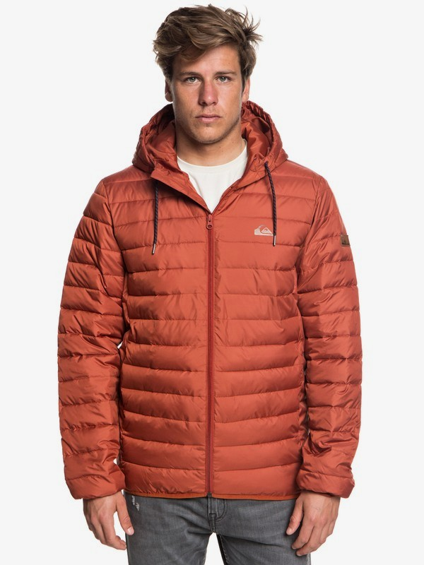 0 Scaly - Water-Resistant Puffer Jacket for Men Red EQYJK03418 Quiksilver