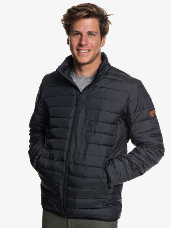 0 Scaly - Water-Resistant Puffer Jacket for Men Black EQYJK03419 Quiksilver