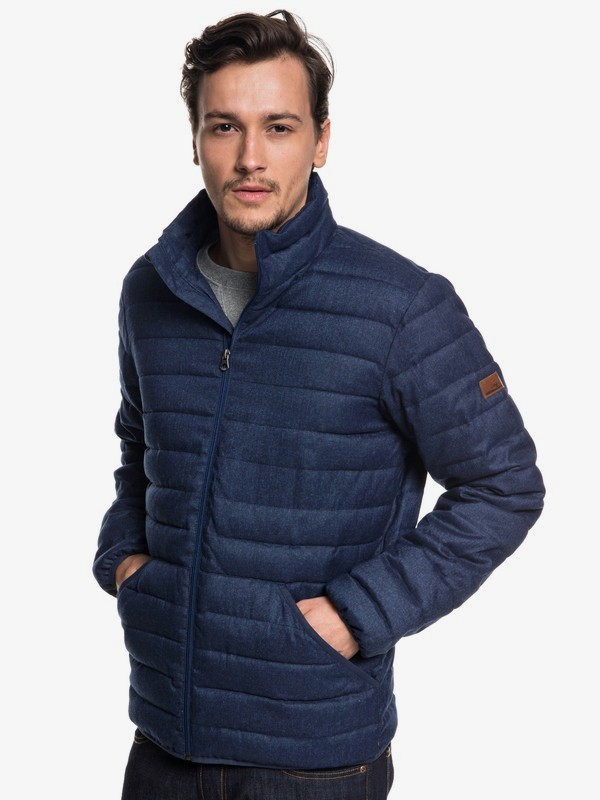 0 Scaly - Puffer Jacket for Men Blue EQYJK03422 Quiksilver