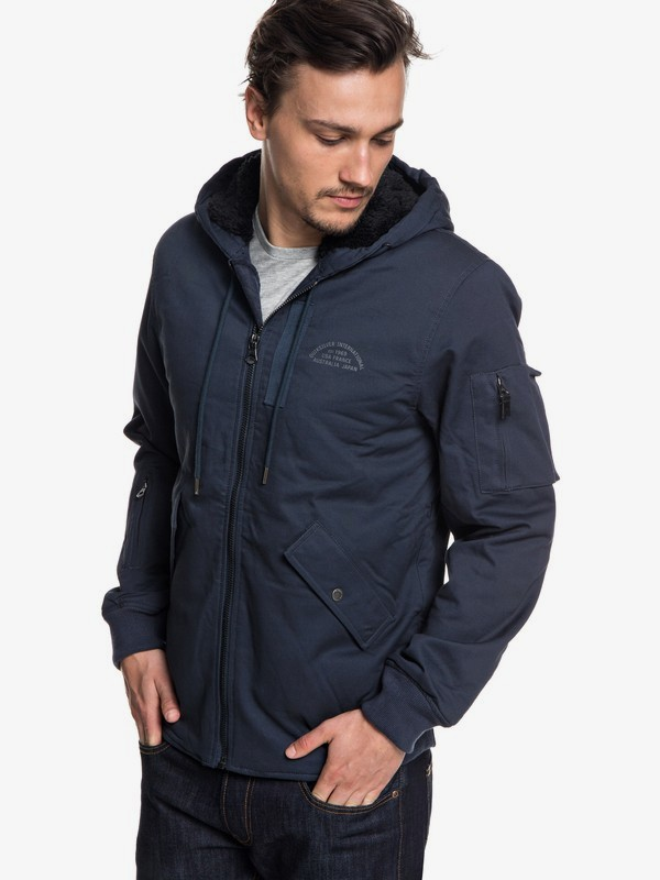 0 Hana Go - Water Resistant Hooded Jacket Blue EQYJK03436 Quiksilver