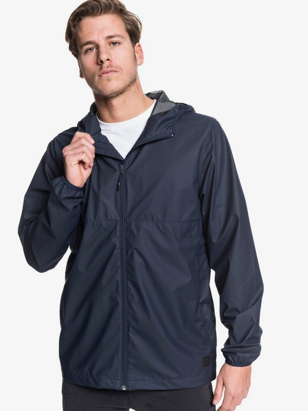 0 Kamakura Rains - Hooded Raincoat for Men Black EQYJK03438 Quiksilver