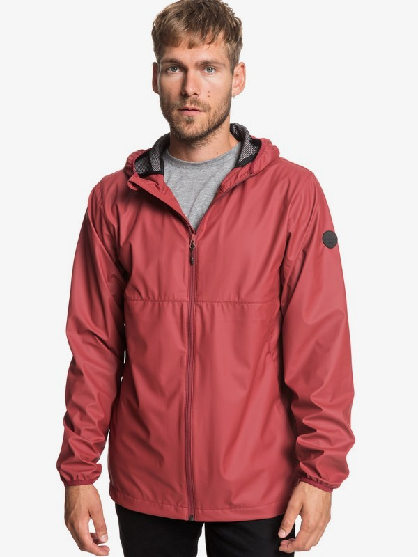 0 Kamakura Rains - Hooded Raincoat for Men Red EQYJK03438 Quiksilver