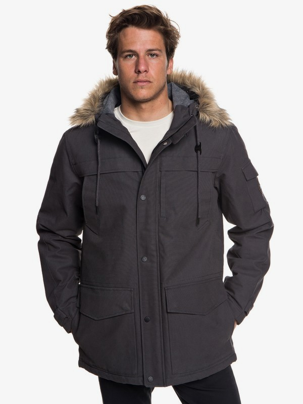 0 Storm Drop 5K - Waterproof Hooded Parka for Men Black EQYJK03445 Quiksilver