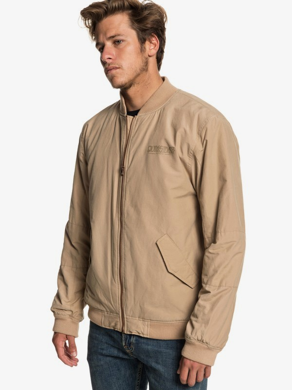 0 Rock It - Bomber Jacket for Men Brown EQYJK03468 Quiksilver