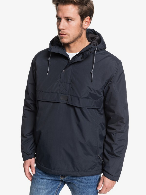 0 Tazawa - Hooded Water-Resistant Anorak for Men Black EQYJK03506 Quiksilver