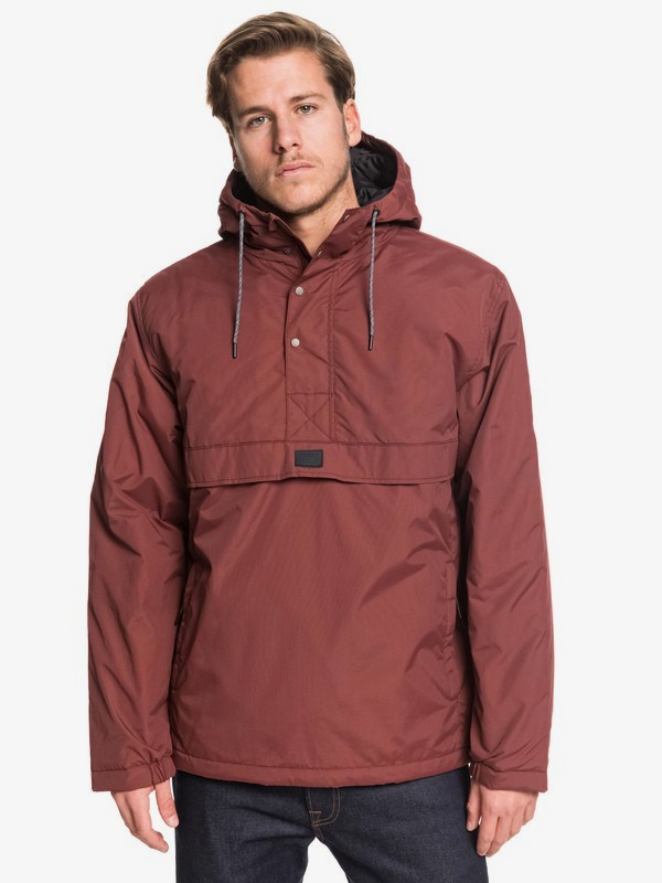 0 Tazawa - Hooded Water-Resistant Anorak for Men Red EQYJK03506 Quiksilver