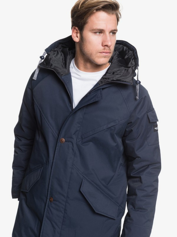 Kayapa - Longline Water-Repellent Hooded Jacket for Men  EQYJK03508