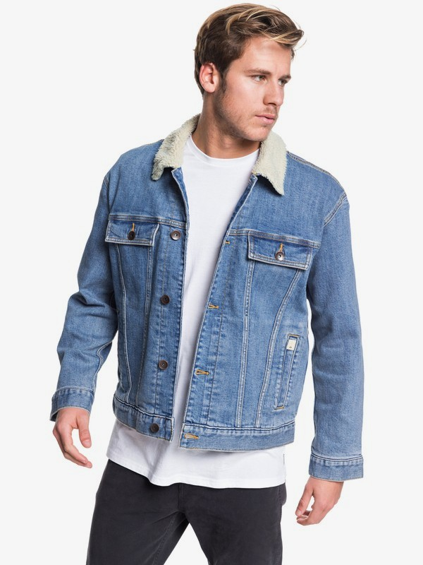 0 Quiksilver - Denim Jacket for Men Blue EQYJK03509 Quiksilver