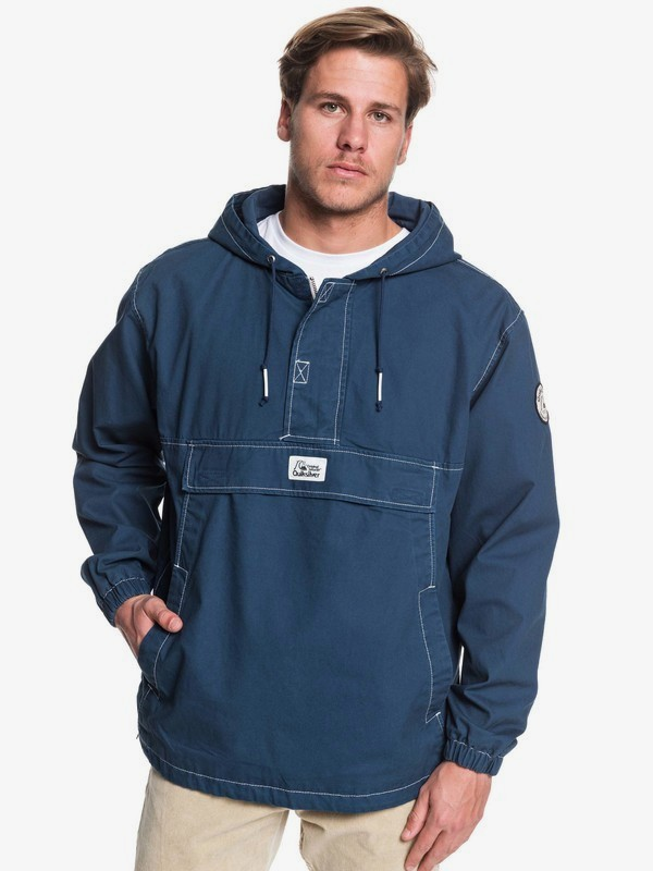 0 Tazawa Wash - Hooded Anorak for Men Blue EQYJK03511 Quiksilver