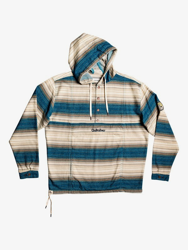 Neo Inca - Hooded Flannel Anorak for Men  EQYJK03526