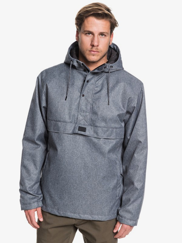 0 Tazawa 5K - Hooded Water-Resistant Anorak for Men Black EQYJK03527 Quiksilver