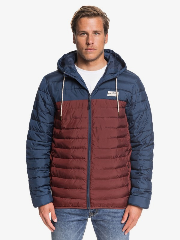 Scaly Block - Hooded Puffer Jacket for Men  EQYJK03528