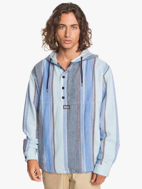 Neo Blue - Twill Anorak for Men  EQYJK03591
