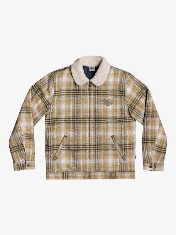 Shadow Foam - Sherpa Collar Zip-Up Overshirt for Men  EQYJK03592