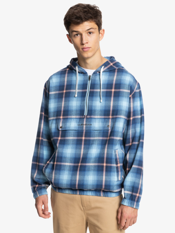 Neo Blue - Twill Anorak for Men  EQYJK03647