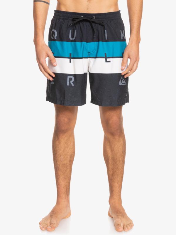 """Word Block 17"""" - Swim Shorts for Men  EQYJV03694"""