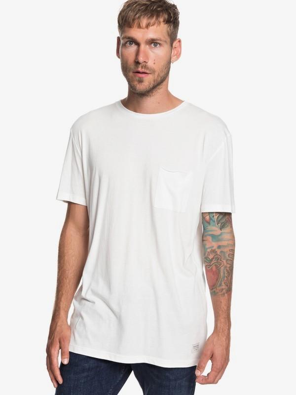 0 The Organic - Camiseta con Bolsillo para Hombre Blanco EQYKT03836 Quiksilver
