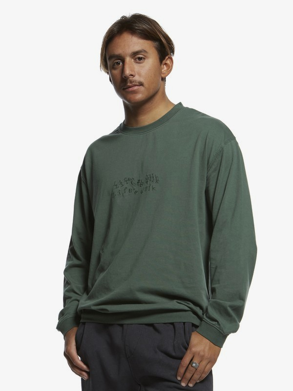 0 Originals - Long Sleeve T-Shirt for Men Green EQYKT03901 Quiksilver