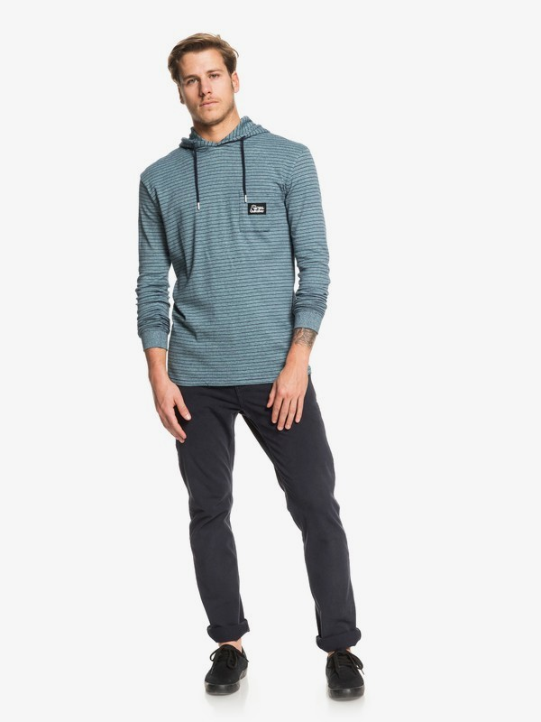 Zermet - Hooded Long Sleeve Pocket T-Shirt for Men  EQYKT03906