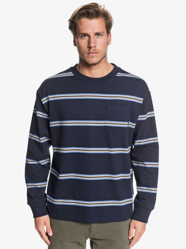 Barrel Way - Long Sleeve Pocket T-Shirt for Men  EQYKT03908