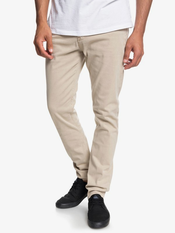 0 Dawn To Dust - Pantalon coupe slim pour Homme Marron EQYNP03140 Quiksilver