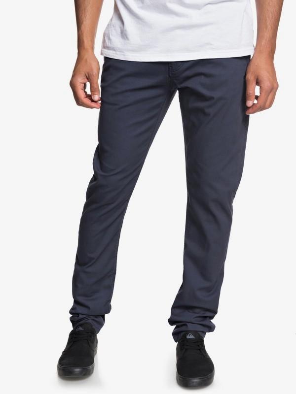 0 Krandy - Pantalón Chino de Corte Ajustado para Hombre  EQYNP03149 Quiksilver