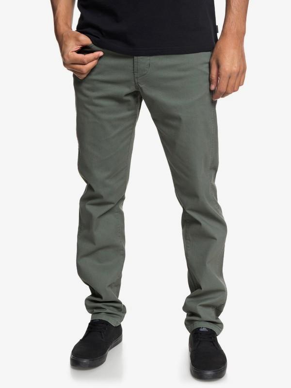 0 Krandy - Pantaloni con vestibilità straight da Uomo Brown EQYNP03151 Quiksilver