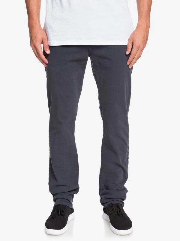 0 Krandy - Pantalón Chino de Corte Recto para Hombre Azul EQYNP03170 Quiksilver