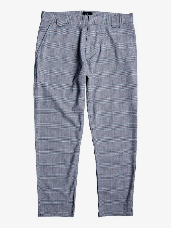 0 The Originals - Tapered Cropped Check Trousers for Men Brown EQYNP03174 Quiksilver
