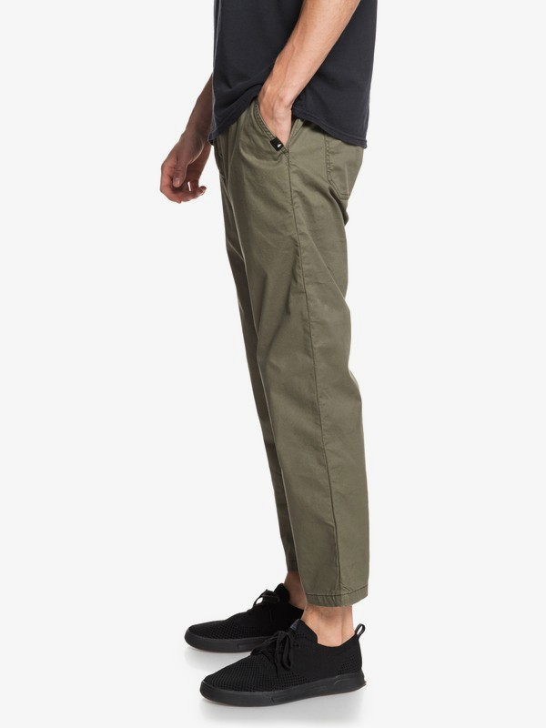 Fatigue - High Water Fit Elasticated Trousers for Men  EQYNP03181
